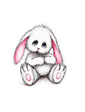 Toy bunny on white background Royalty Free Stock Photo