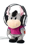Toy Burro with Headphones Stock Photos