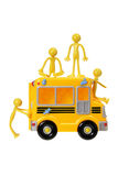 Toy Bus and Rubber Figures Royalty Free Stock Photos