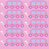 Toy bus 3. Simple and creative bus pattern for any purpose Royalty Free Stock Photography