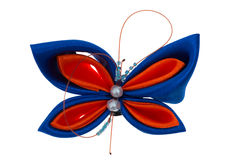 Toy butterfly made of ribbons Royalty Free Stock Photo