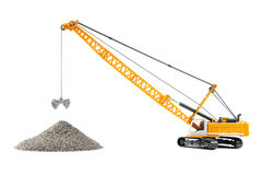 Toy cable excavator Royalty Free Stock Photography