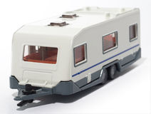 Toy Camper Trailer. A close up on a toy camper trailer stock photos