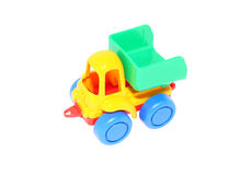 Toy Car. Children's toy car dumper. Isolated object. White background Royalty Free Stock Photos
