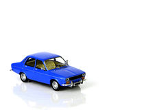 Toy car. Close up of blue toy car Royalty Free Stock Photography