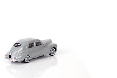 Toy car. Close up of grey toy car Stock Images