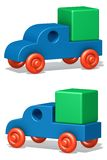 The toy car. The three-dimensional image of the toy car on a white background Vector Illustration