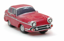 Toy Car 2. Closeup of a funny looking retro toy car. Focus is on the front corner Royalty Free Stock Image