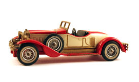 Toy car. Picture of a 1931 stutz bearcat classic toy car, isolated Stock Photography