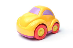 Toy car. Studio shot of the Colorful Toy Car on white stock photos
