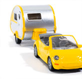 Toy Car. A toy car and a camper royalty free stock photo