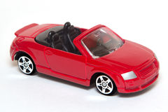 Toy Car. Red Toy Car with white background royalty free stock photos