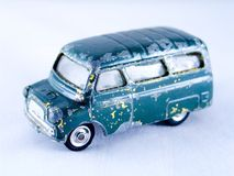 Toy car. Old toy buss Royalty Free Stock Photo