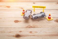 Toy car accident Royalty Free Stock Photos