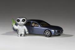 Toy car alien Stock Photo