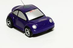 Toy car. Toy Blue car over White background Stock Photo