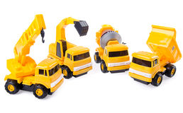 Toy car and building truck on background Stock Photo