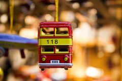 Toy Car, Bus, Toy, Red, Tin Car Royalty Free Stock Photo