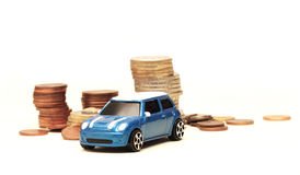 Toy car buying Royalty Free Stock Photo