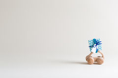 Toy car carrying a small gift box Stock Photography