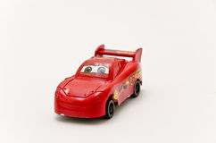 Toy car. Closeup isolated on white background Stock Photos