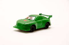 Toy car. Closeup isolated on white background Royalty Free Stock Photo