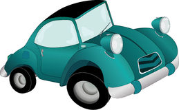 The toy car with curve wheels Stock Images