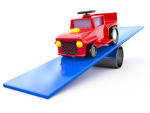 Toy car, 3D Royalty Free Stock Photo