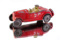 Toy car with driver Stock Image