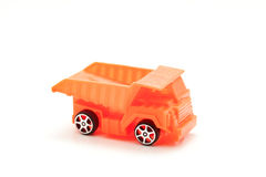 Toy car dump truck isolated on white background. Toy car dump truck isolated on white background Stock Photo