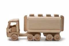 Toy car with fuel tank. Royalty Free Stock Image