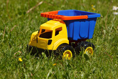Toy car in grass Royalty Free Stock Photos