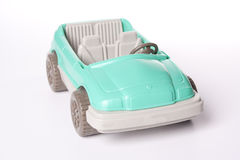 Toy Car. A green plastic toy convertable car Stock Photos