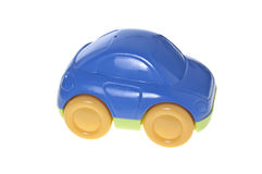 Toy car, isolated. A child's blue toy car, isolated on white Stock Image