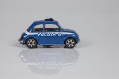 Toy car of the Italian police. ROME - ITALY - NOVEMBER 13: toy car of the Italian police. Christmas gift for children in November 13, 2016 Stock Photos