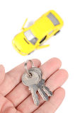 Toy car and key Stock Images