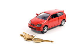 Toy car and keys Stock Images