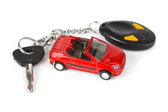 Toy car and keys Royalty Free Stock Image