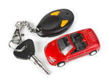 Toy car and keys Stock Image