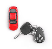 Toy car and keys Royalty Free Stock Photo