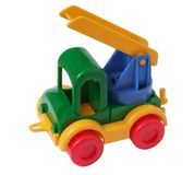 Toy car with ladder Royalty Free Stock Photo