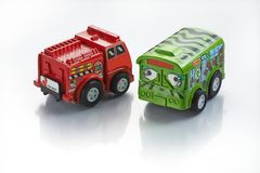 Toy Car Line Up Royalty Free Stock Photography