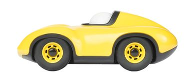 Toy Car lokalisierte auf weißem Hintergrund Lizenzfreie Stockfotografie