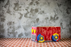 Toy car made of cardboard box Royalty Free Stock Photography