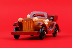 A toy car made of wood Royalty Free Stock Image