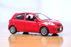 The Toy Car Model. The Toy Red Car Model royalty free stock photo