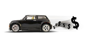 Toy car with money Royalty Free Stock Image