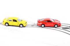 Toy car and music Stock Images