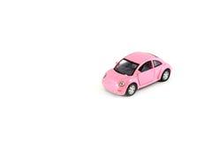 Toy Car op wit wordt geïsoleerd dat Royalty-vrije Stock Foto's