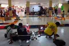 Toy car race Stock Photo
